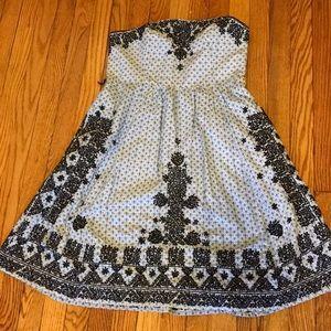 Anthropologie Strapless Cotton Dress